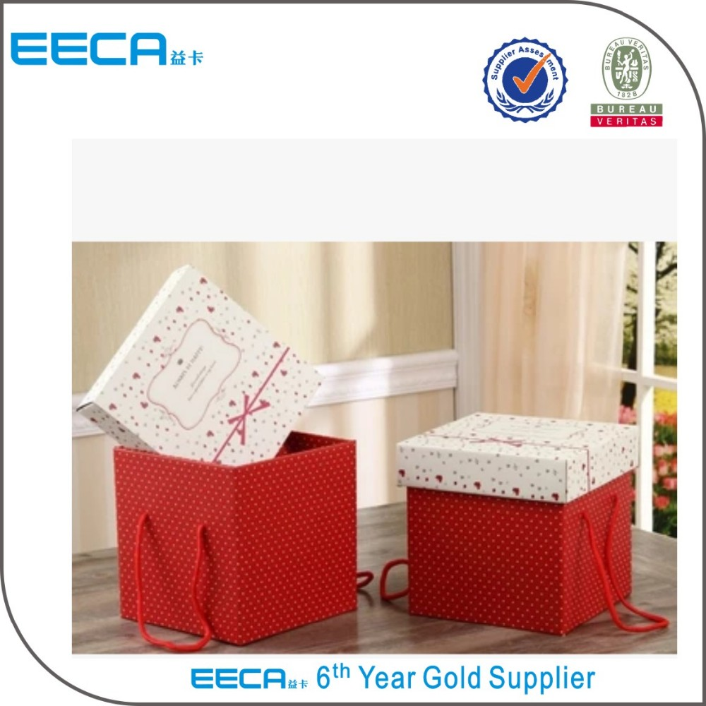 Big paper storage box / fashion paper storage box / large gift boxes Hand straps