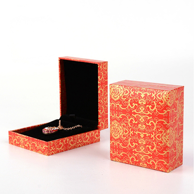luxury gem necklace box/Square gift box/wedding gift box for jewel with lid made in EECA China
