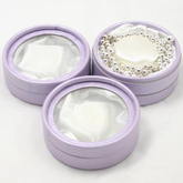 Custom circle jewelry box packaging for pearl necklace round jewel with ornaments in EECA