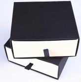 Drawer gift box black and white handmade custom printed paper drawer gift packaging box