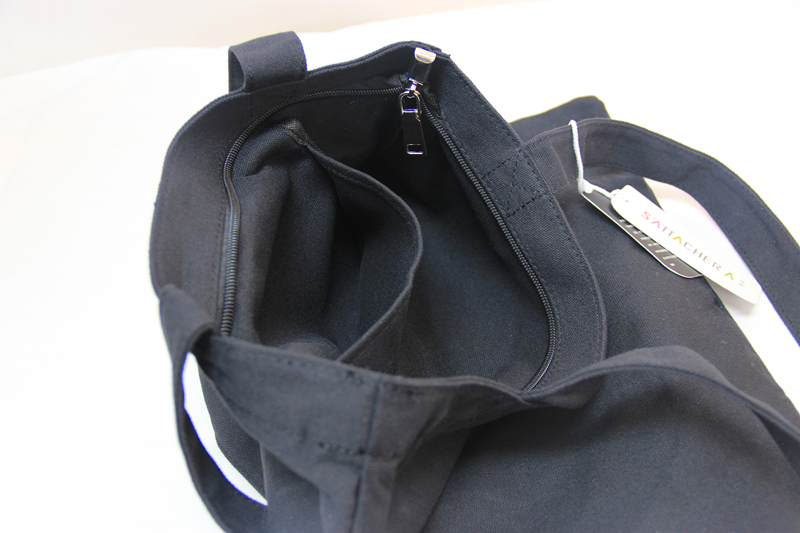 Pure black bag / black canvas bag / linen bag/tote bag/cotton tote bag in EECA