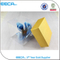 Pretty yellow PVC box/paper watch box with clear window/Square gift box in Dongguan China