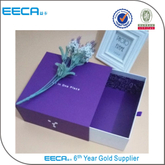 2017 luxury gift paper drawer gift box/garment packaging paper box purple box/perfume paper boxes in china