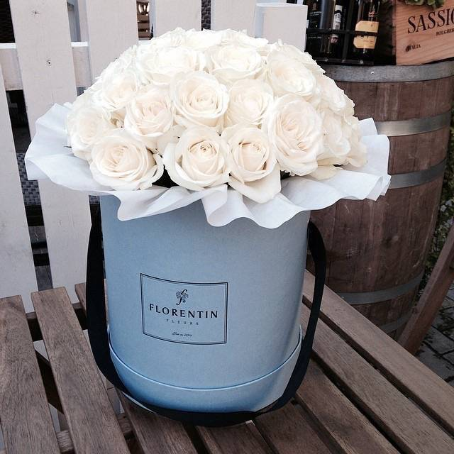 Fancy Luxury paper round hat flower box Cylindrical flower box