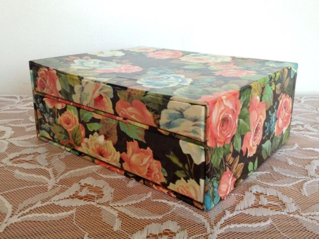 Customized Cardboard Drawer Box/Personality Paper Drawer box with 2 Drawers in EECA