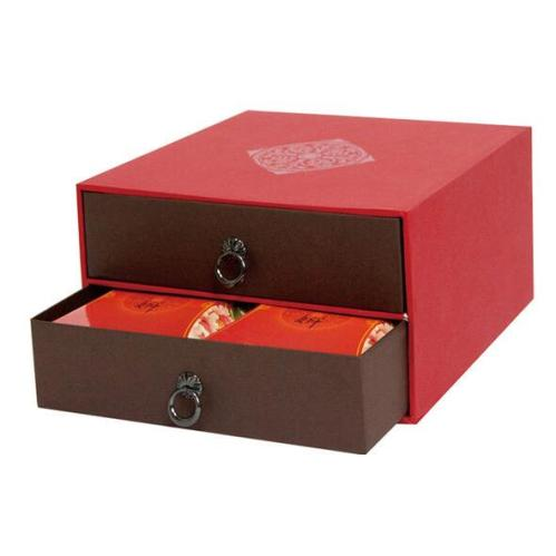 Hot sale paper drawer gift box/Double drawer box
