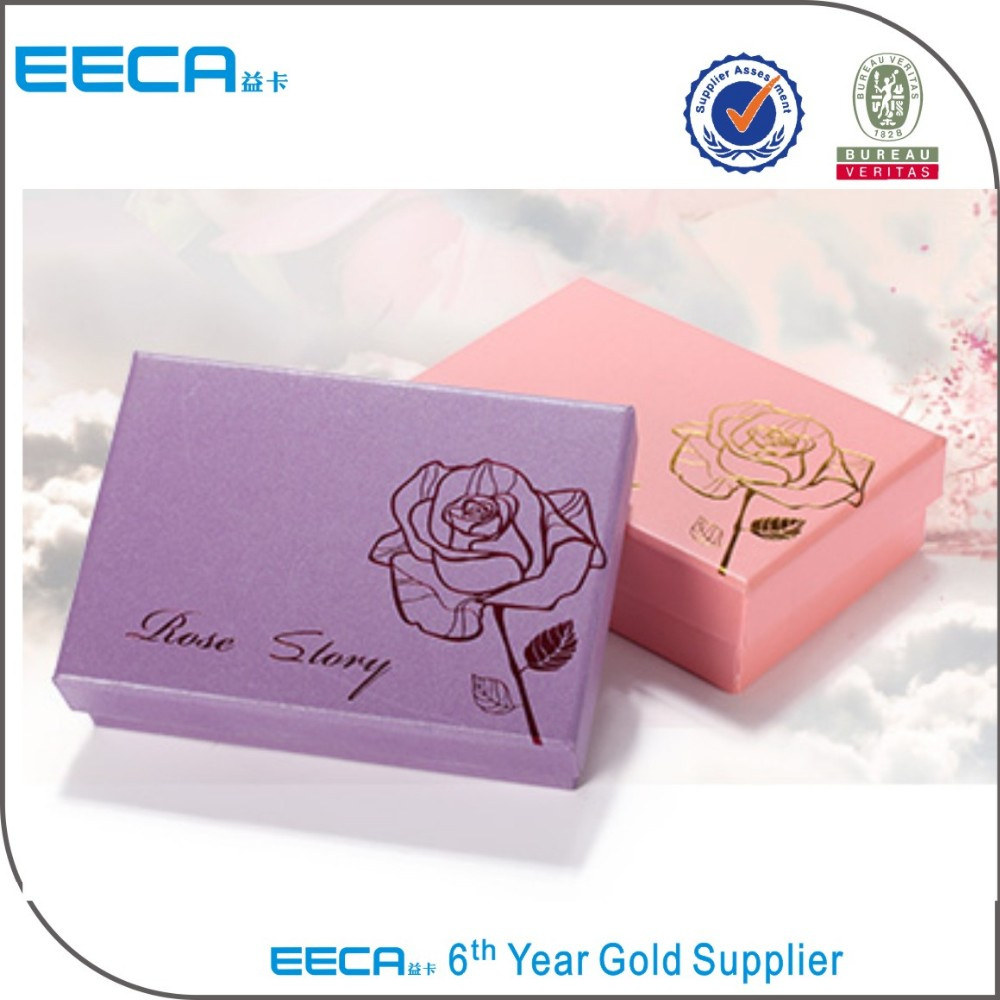Rectangular gift box Hot Stamping Logo Customized Cardboard Paper Box with Lids Cosmetic Storage Box