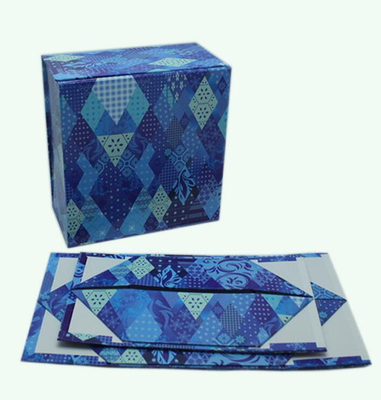 Blue Foldable gift box/Space-saving box/recycle box supplier in EECA