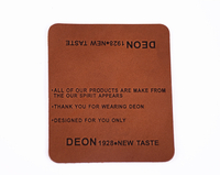 Custom leather label maker brown luggage tag leather strap wholesale in China
