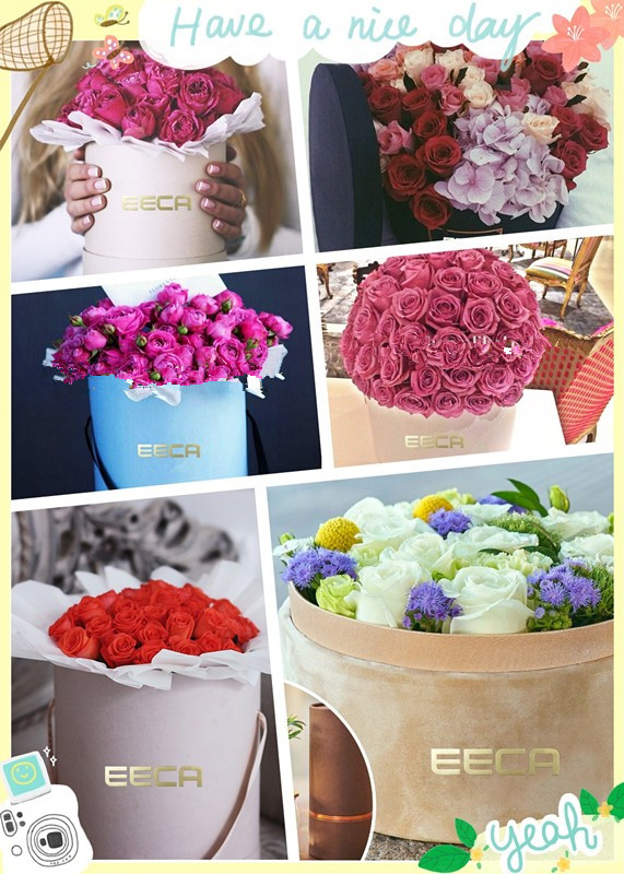 2017 Hot selling cylinder round flower gift box/Round Hat Box Wholesale packaging in EECA China