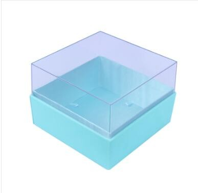 2017 new design square custom made clear pvc storage box with pvc window square flower box