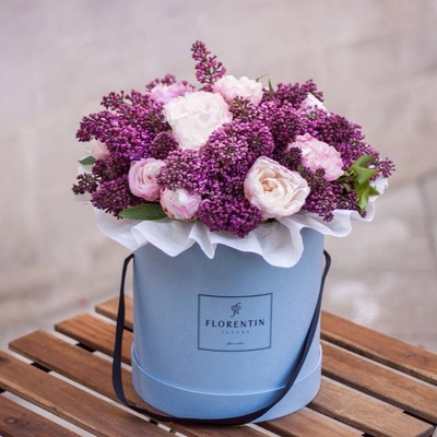 Round waterproof flower cardboard gift box hat box Cylindrical flower box