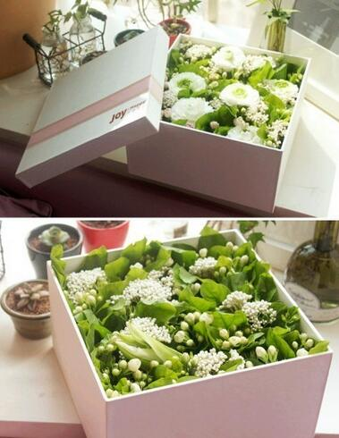Hot Sale Luxury Customized Flower Packaging Paper Box/Square flower gift box