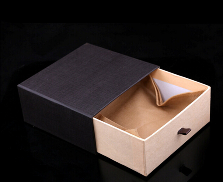 Custom logo printed paper drawer box/brown drawer box/cup drawer box in EECA