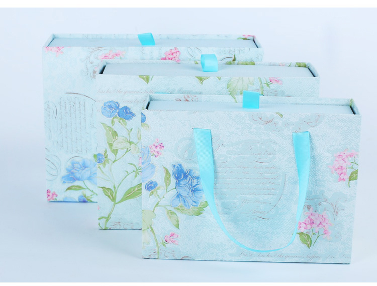 Colorful paper box/Paper drawer box/Recycle drawer box/drawer box with bag supplier from China