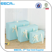 Customized cardboard drawer handle storage box/drawer box with ribbon bow wholesale in EECA China