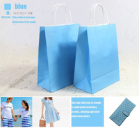 Fashion design colorful paper bag art Kraft paper bag in EECA