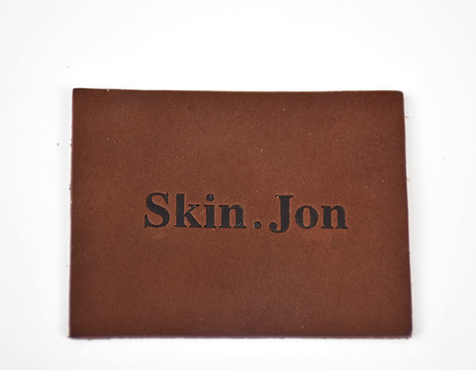 Brown garment real leather labels tags made in China