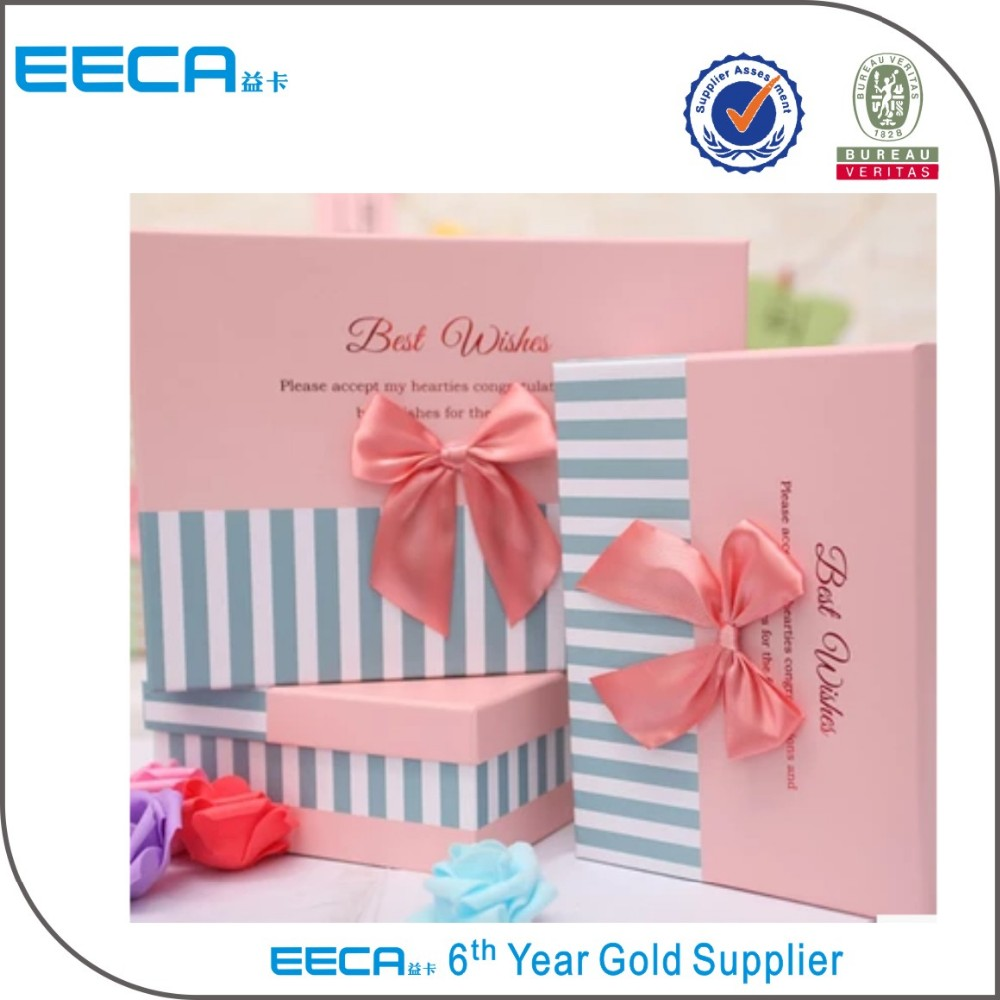 Rectangular gift box high quality custom handmade cardboard packing boxes/gift boxes for clothes