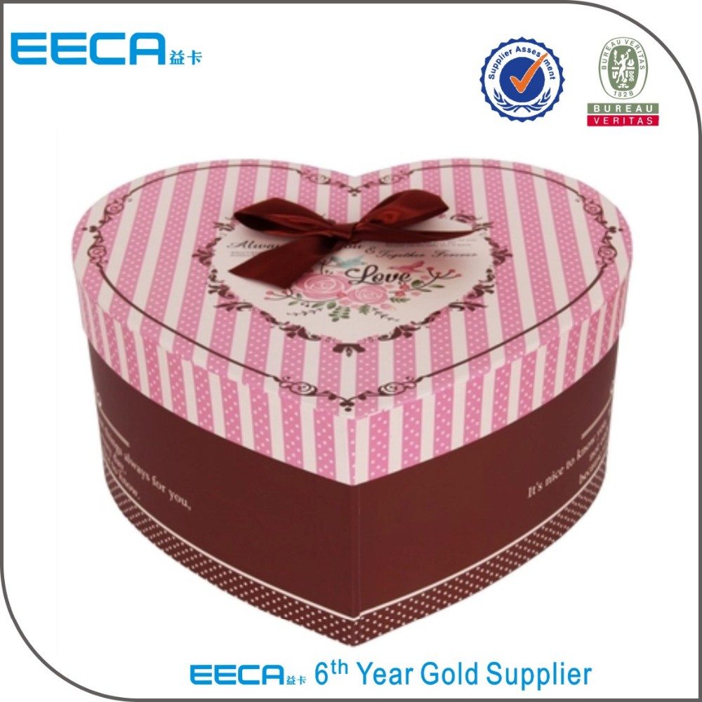 High Quality Heart-shaped box Creative Paper Gift Packaging Boxes Alibaba