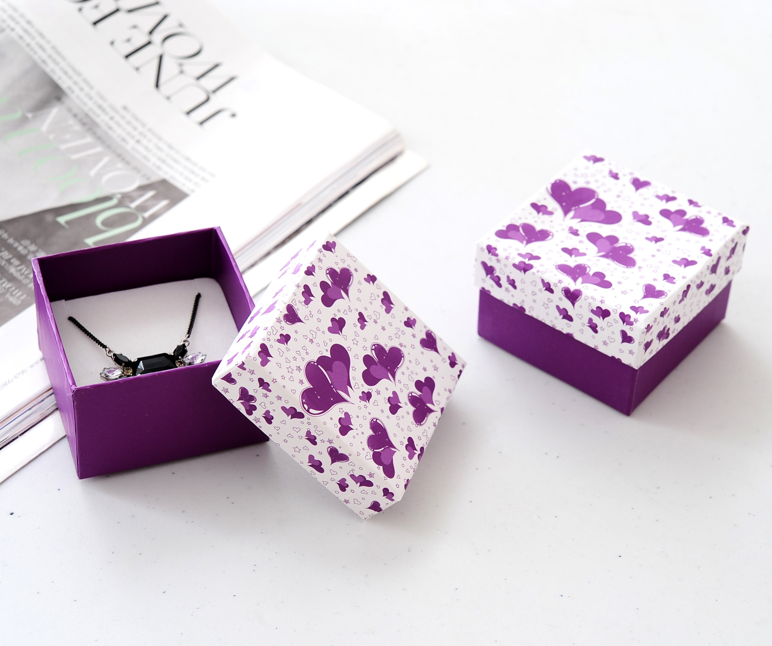 2017 Square Gift Box Custom Fashion Paper Jewelry Box/Jewelry Box Packaging for necklace